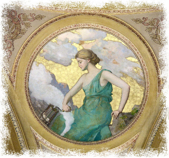 Murals of greek goddesses for Ancient greek mural