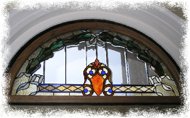 Stained Glass Window Above Center Front Door